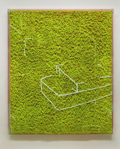 02 Dharmanautica - 2008, 180x150x12 cm, štuk a akryl na srsti, olej v srsti. (2)