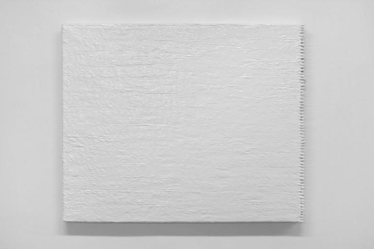 02 Minimax - 2000, 150x160x6 cm, syntetika na plátně, plast, kov.