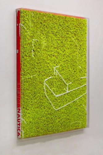 03 Dharmanautica - 2008, 180x150x12 cm, štuk a akryl na srsti, olej v srsti.