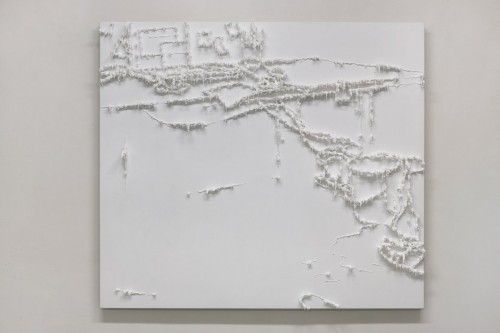 03 Předmalba prostoru - 2008, 150x170x20 cm, silokon na plátně (2)