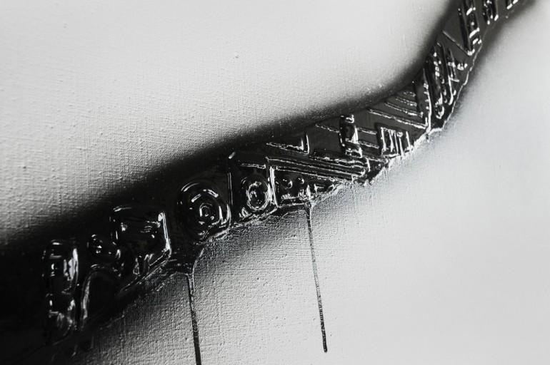 03 Vyvolaný det. - 2009, 2x220x155 cm, syntetika na plátně + fotogtafie (2)-web