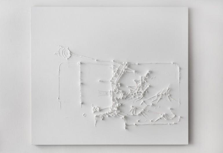 05 Předmalba dokumentace Aivazovského - 2008. 150x170cm silicon na plátně. (2)