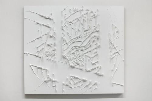 07 Předmalba reklamy - 2008, 150x170x20 cm, silokon na plátně (2)