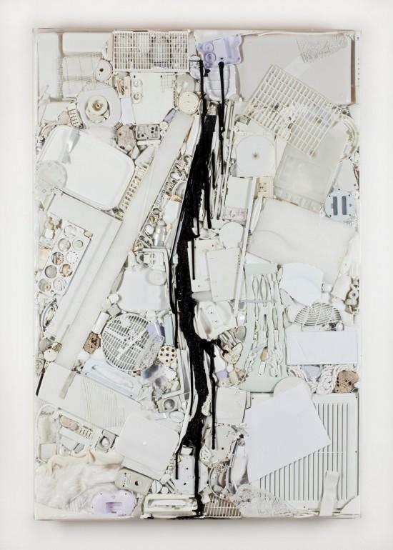 08 Vnitřní malba, 2012, plast silikon, 160x110x10 cm