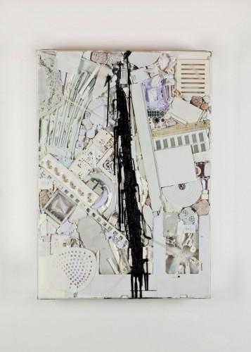10 Vnitřní malba, 2012, plast, silikon, 120x80x10 cm