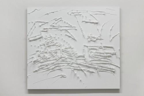 11 Předmalba reklamy - 2008, 150x170x20 cm, silokon na plátně (6)