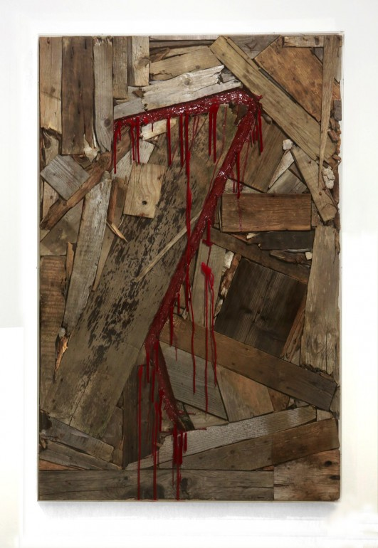 13 Vnitřní malba, 2012, dřevo, akryl, 160x110x10 cm (2)