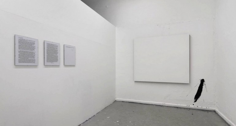 19 Neakční nemalba - 2008, 130x160 cm akryl na plátně